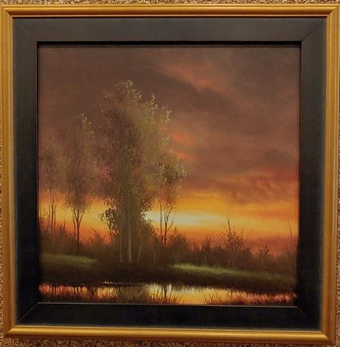 Click to view detail for Glowing Horizon 12x12