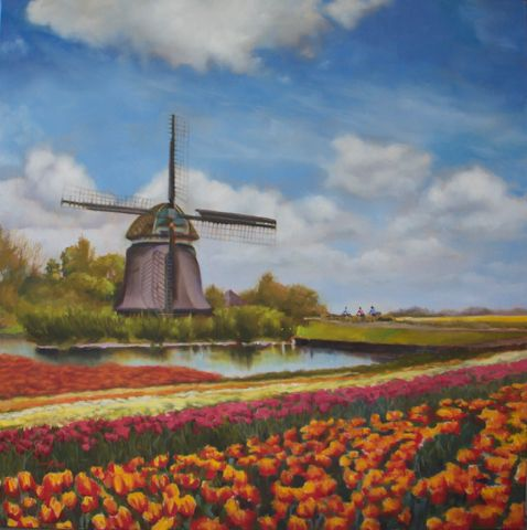 Click to view detail for Holland in Springtime 38x38