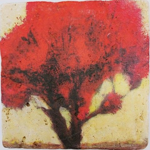 Click to view detail for JS018 Coaster Autumn Reds 6x6 $38
