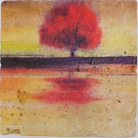 Click to view detail for JS020 Coaster Lone Tree 6x6  $38