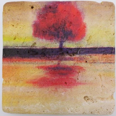 Click to view detail for JS007 Coaster Tree Reflection 4x4 $26