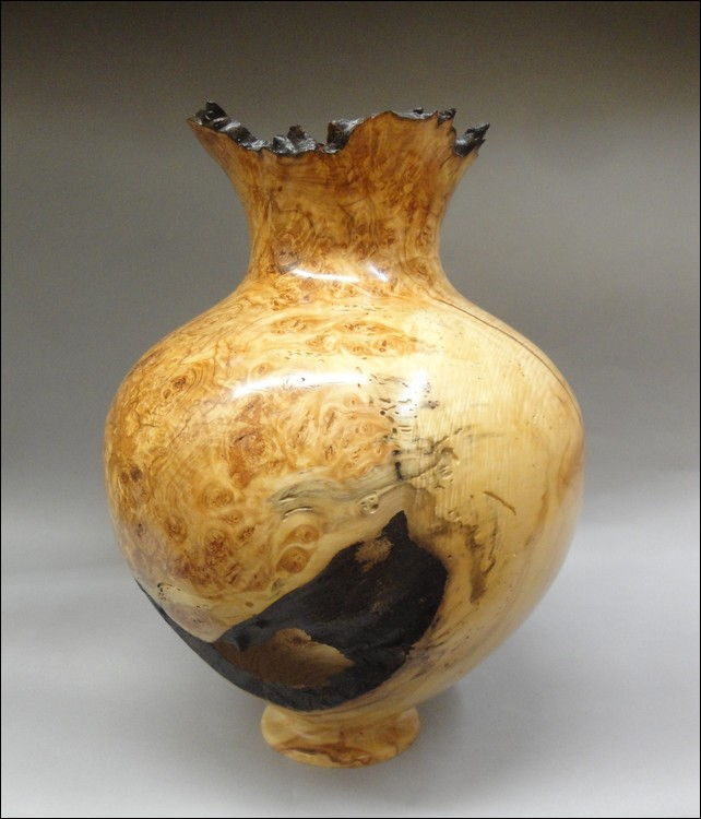 Click to view detail for JW-084 Aspen Burl Vessel