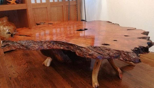 JW-169 Redwood Lace Burl & Juniper Table at Hunter Wolff Gallery