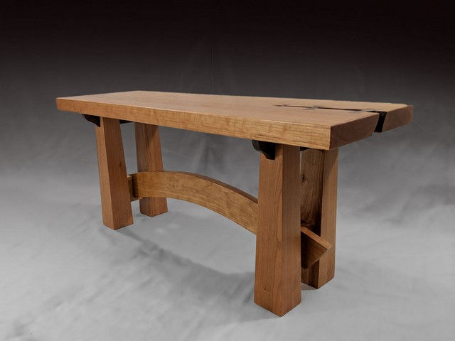 Click to view detail for BEN-7001 Bench Cherry and Walnut