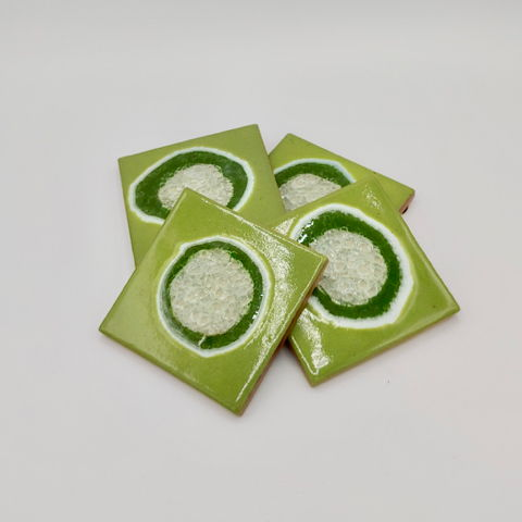 Click to view detail for KB-318 Coaster Set - Spring Green
