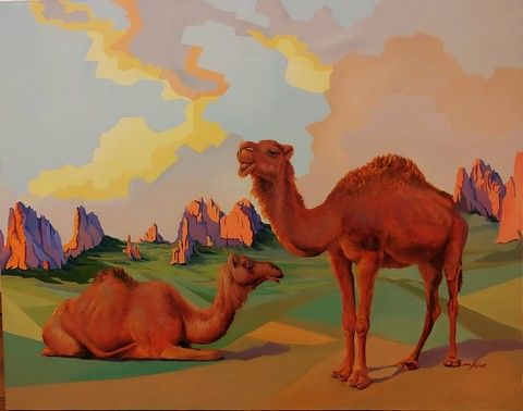 Click to view detail for CameLot in Kissing Camels 40x50 $5000