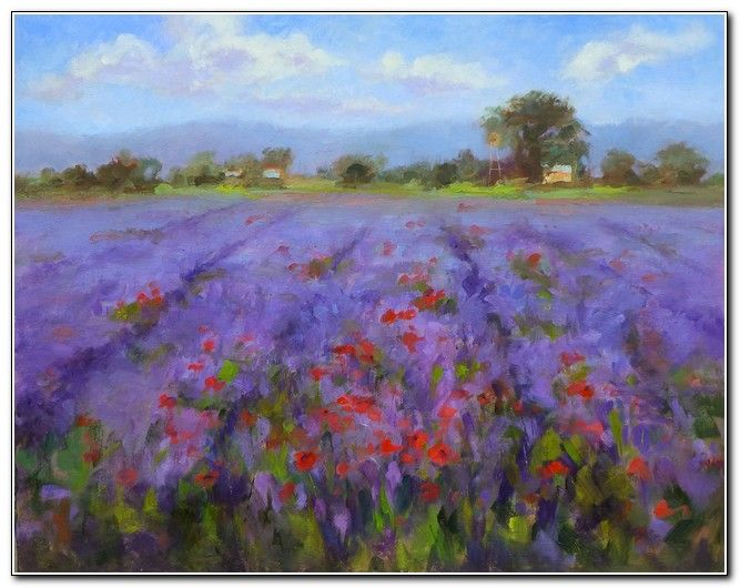 Click to view detail for Lavender and Poppies