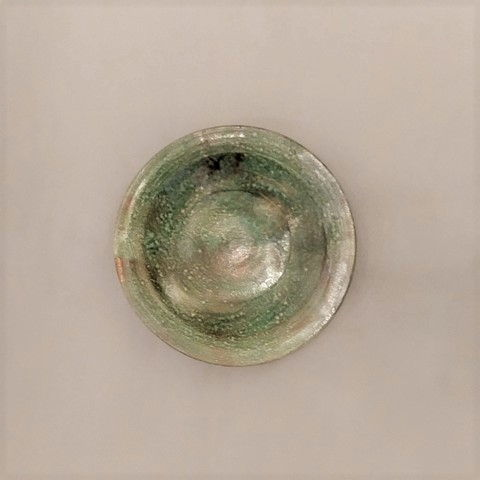 Click to view detail for MW-042 Platter, Small Raku Green