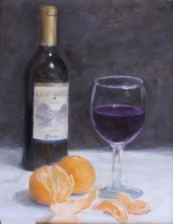Click to view detail for Mandarins & Wine 10x8