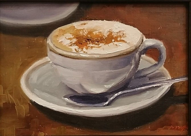 Morning Latte 5x7 at Hunter Wolff Gallery