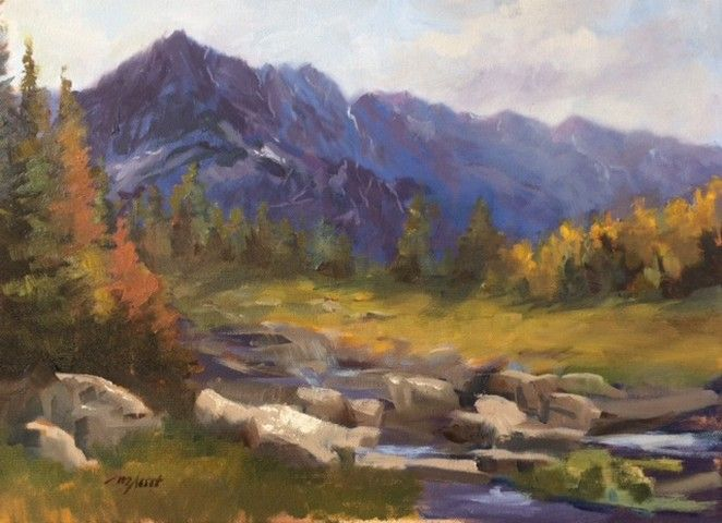 Click to view detail for Mountain Blues 12x16