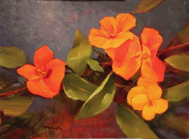 Click to view detail for Nasturtiums 9x12