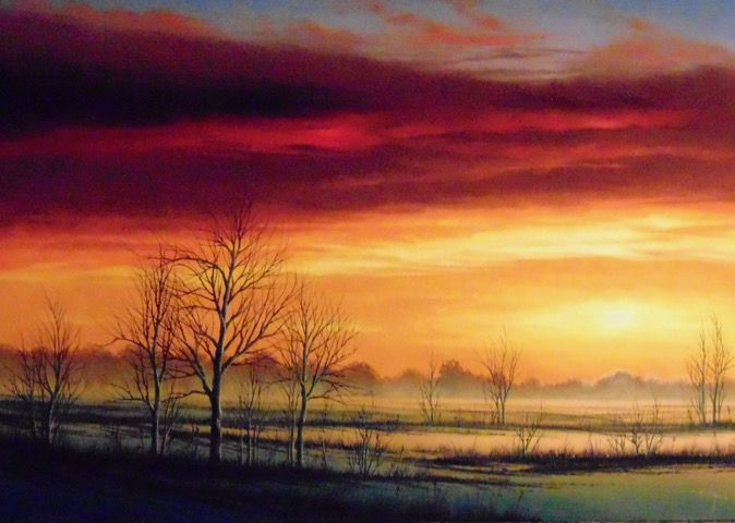 November Dusk 11x16 at Hunter Wolff Gallery