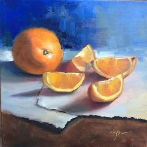 Oranges, Oranges 10x10 at Hunter Wolff Gallery