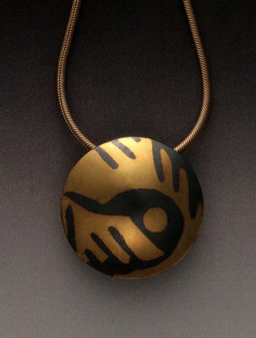 MB-P279 Pendant Golden World #2 at Hunter Wolff Gallery