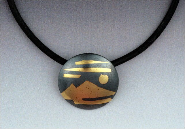 Click to view detail for MB-P289A Pendant, Mountain Sunset