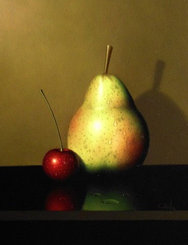 Pear and Cherry 8x6 at Hunter Wolff Gallery