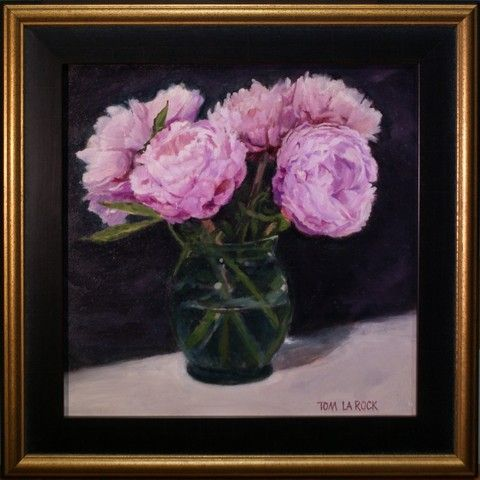 Click to view detail for Peonies and Green Vase 10x10 $560