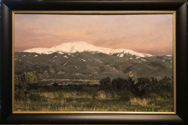 Pikes Peak Early Morning 16x24 at Hunter Wolff Gallery