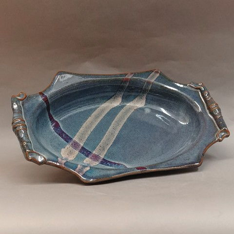 Click to view detail for Platter Fancy with Handles 15x9.25