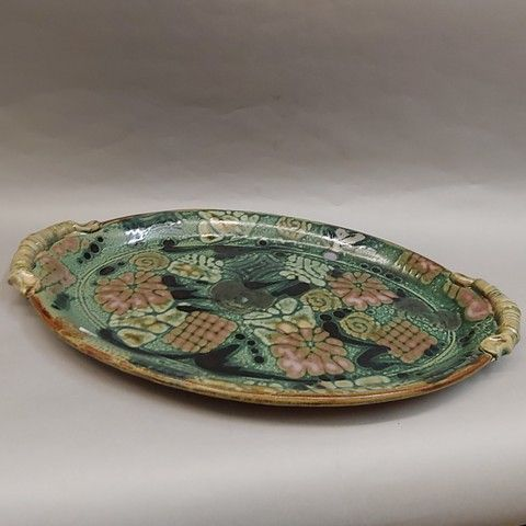 Platter, Oval 12.5x20 at Hunter Wolff Gallery