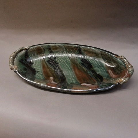 Click to view detail for Oval Serving Platter, Green