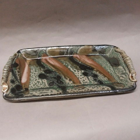 Click to view detail for Platter, Rectangular Shaped, Green