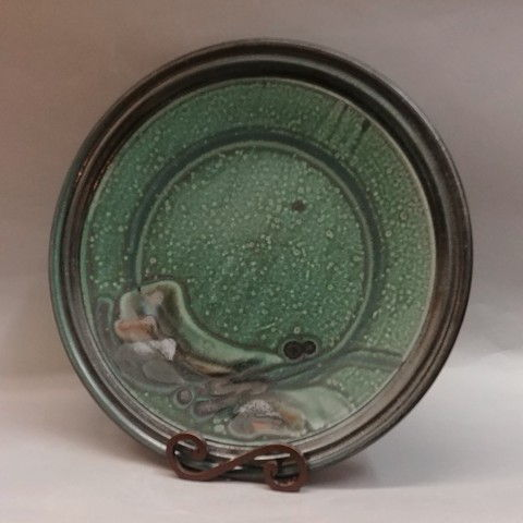 Click to view detail for Platter Round, 16 Green