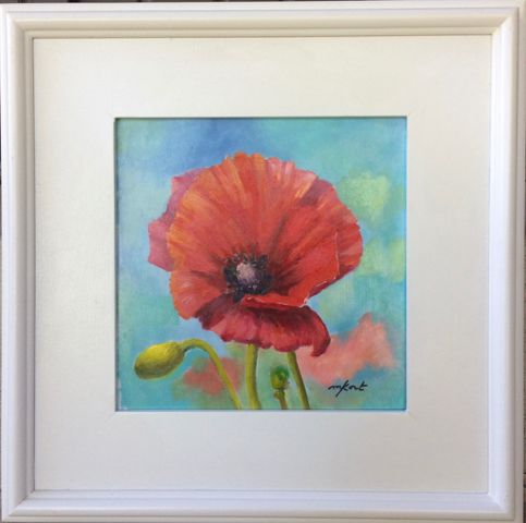 Click to view detail for Poppin' Poppies 8x8