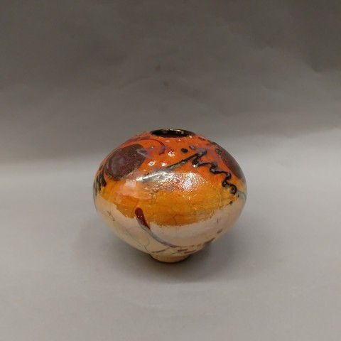 Click to view detail for Raku 3X Fired 5x6
