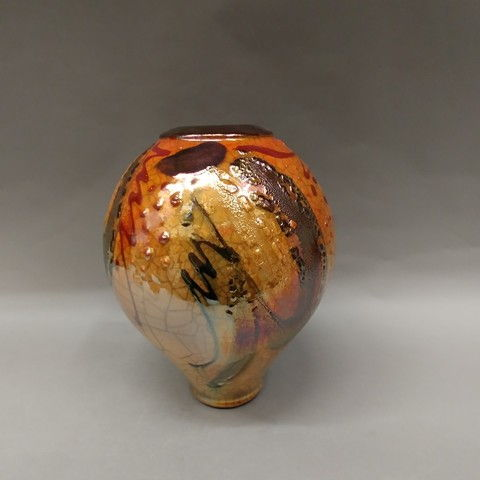 Click to view detail for Raku 3X Fired 10x7