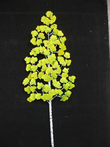 Click to view detail for RS-001 Metal Art, Aspens In Green 42