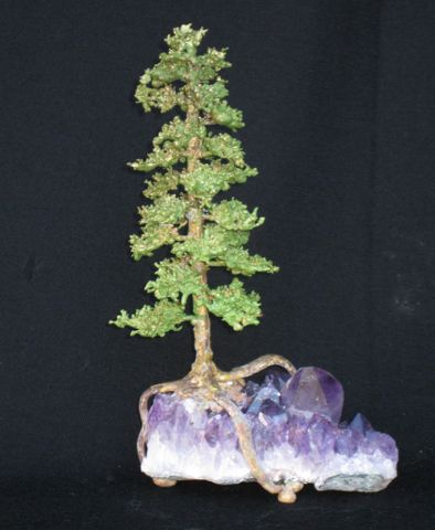 Click to view detail for RS-020 Pine on Amethyst Crystal 12