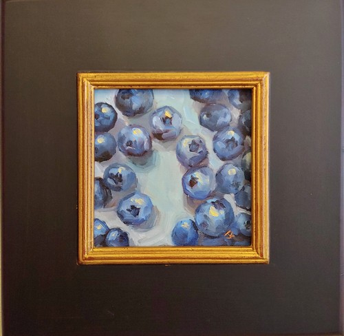 Click to view detail for Rhapsody in Blueberries 6x6  $275