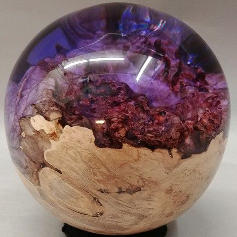 SH007 Sphere 5 Purple at Hunter Wolff Gallery