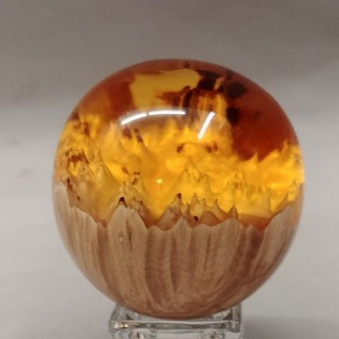 Click to view detail for SH014 Sphere 3 Amber