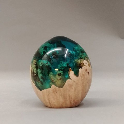 Click to view detail for SH020 Egg Shape 3 Teal