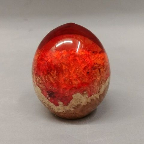 Click to view detail for SH021 Egg Shape 3 Chinese Red