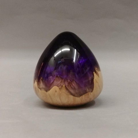 Click to view detail for SH024 Teardrop 3 Dark Purple