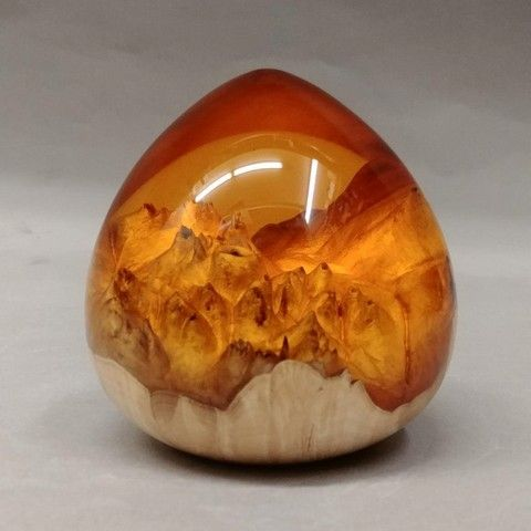 Click to view detail for SH025 Teardrop 3 Amber Gold