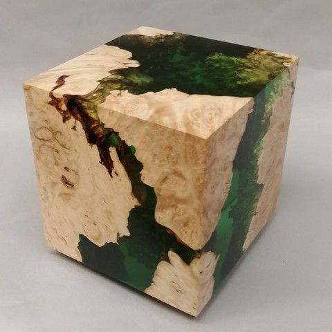Click to view detail for SH030 Cube 5 Green