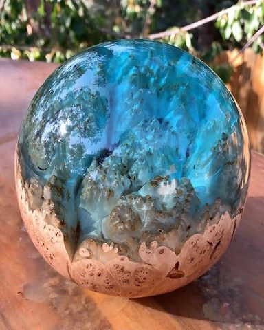 SH058  Maple Burl, Blue 6 at Hunter Wolff Gallery