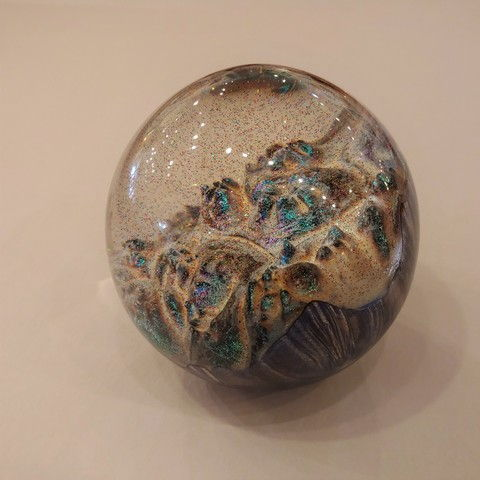 SH071 Sphere  Burl & Resin  First Snow at Hunter Wolff Gallery