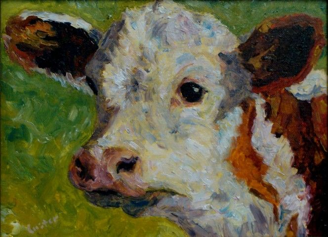 Spring Calf 12x9 at Hunter Wolff Gallery