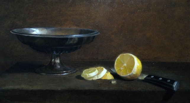 Click to view detail for Lemon Slices & Bowl 9x16