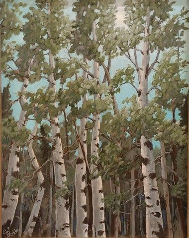 Click to view detail for Summer Aspens 14x11