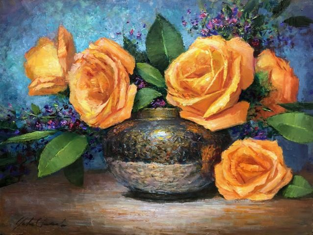 Click to view detail for Sunset Roses 12 x 16