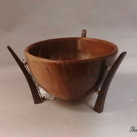 Click to view detail for TC-065 Bowl, Brazilian Cherry & Wenge, 8x5