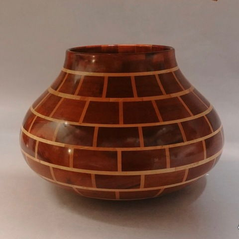 Click to view detail for TC-068 Bricks, African Mahogany & Maple 11x8