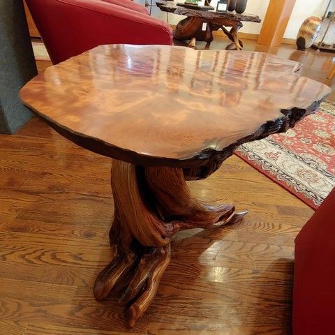 Click to view detail for JW-178 End Table Redwood and Juniper 32x24x24 $2500